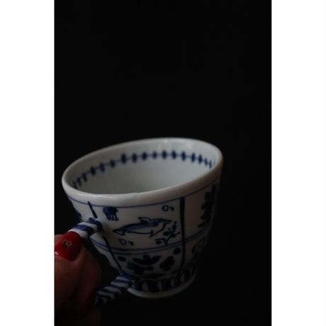永井麻美子 九谷焼 染付け海の生き物 カップ