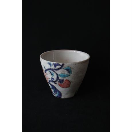 稲積佳谷 九谷焼 夢窓華 白青 カップ