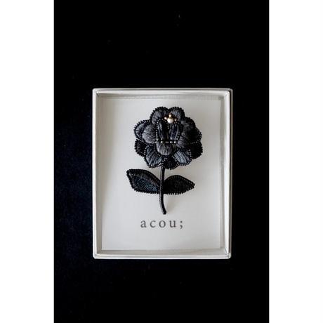 acou;  刺繍ブローチ  ヘミングアーツオリジナル ダリア