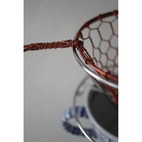 辻和金網 手編みコーヒードリッパー 銅 大(1〜4杯用)