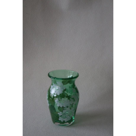 山崎葉 ガラス 藪手毬 花器