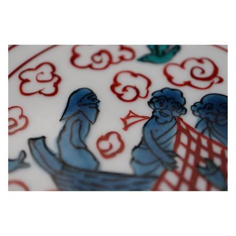 伊藤由紀子 九谷焼 切支丹九谷絵皿板