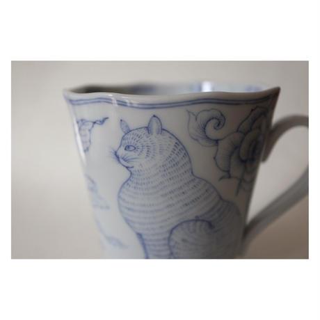 川上真子 九谷焼 猫マグカップ