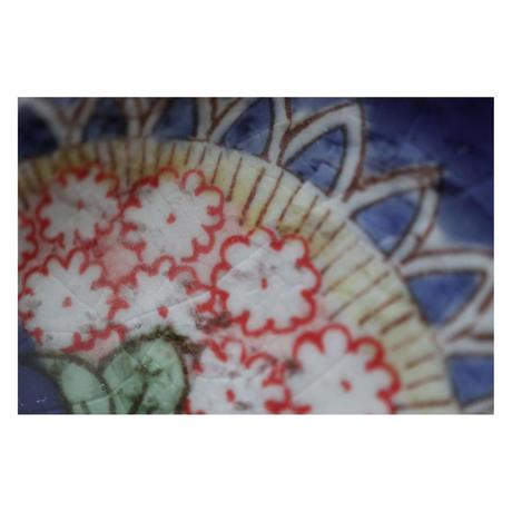 稲積佳谷 九谷焼 夢窓華 藍 大皿