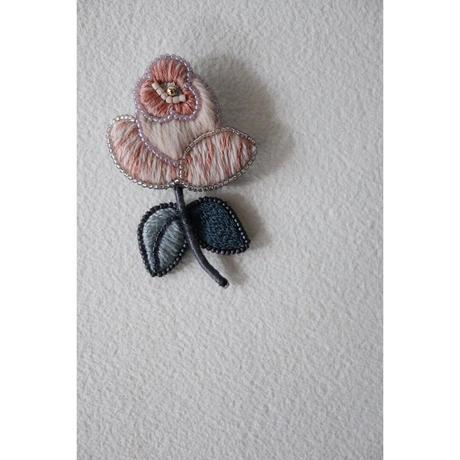acou; フランスオートクチュール刺繍 coral rose