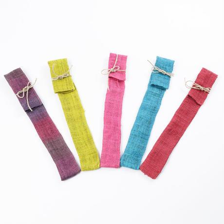 ヘンプ箸袋(水色、ピンク、紫、赤、黄緑のうちご希望を備考欄へ記載ください)