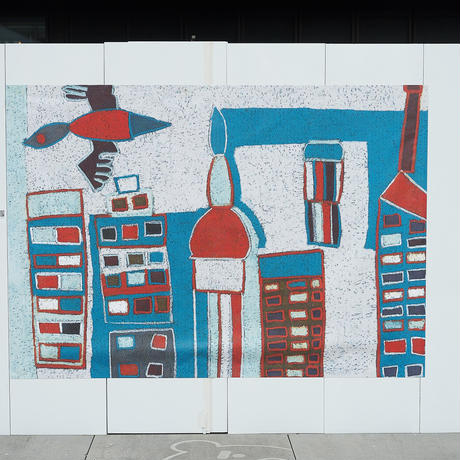 XL「摩天楼を舞う」|Wall Art Tote Bag