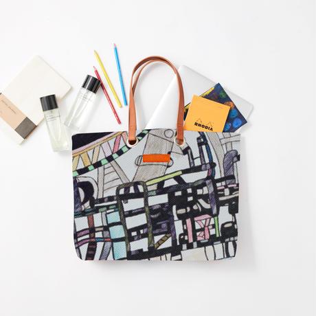 Masato Hanzawa「工場2」|Wall Art Tote Bag