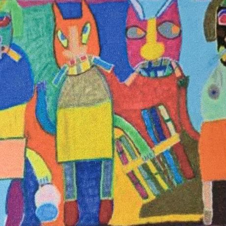 XL 「猫とナマハゲ」|Wall Art Tote Bag