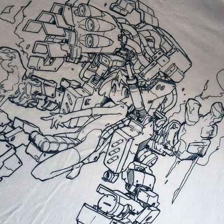mzn / Mecha Girl T-shirt 2nd.