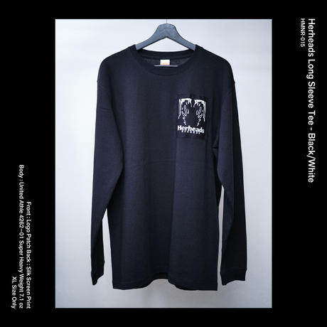 Herheads Long Sleeve Tee - Black/Black (XL Size Only)