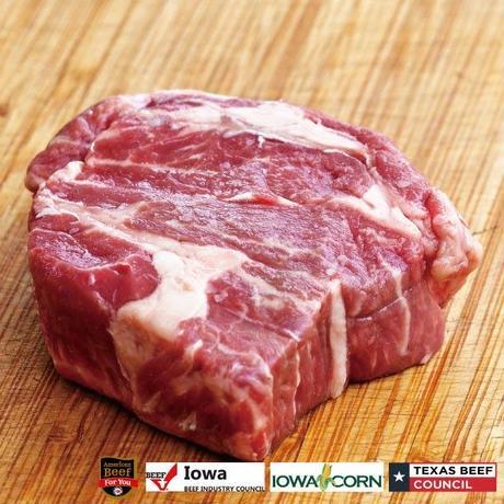 アメリカンビーフ!チャックアイロール厚切りステーキカット200g×5個(1kg)