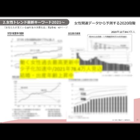 女性トレンドセミナー2021配布資料(抜粋版)