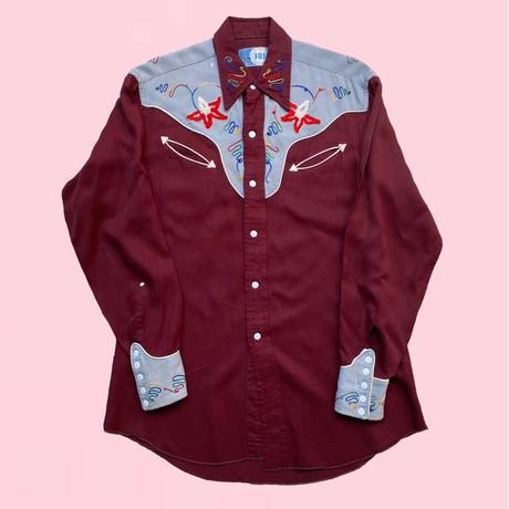 vintage western shirt     H0004