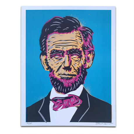 LOST HIGHWAY PRESIDENT SERIES  ABRAHAM LINCOLN POSTER