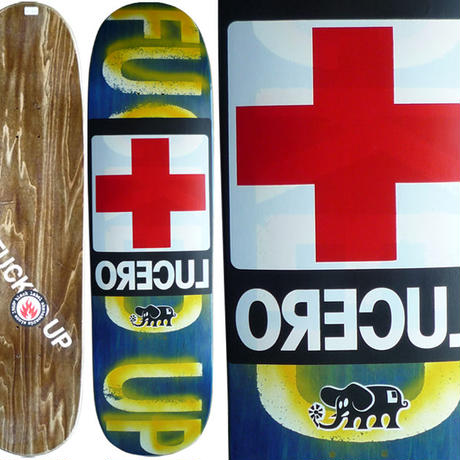 SALE! セール! DEAR,  JOHN LUCERO  FUCKED UP  RED CROSS DECK    (8.4 x 32inch)