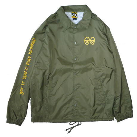 KROOKED STOCK STRAIT EYES COACH JACKET