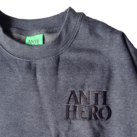 ANTI HERO LIL BLACK HERO CREWNECK NAVY HEATHER
