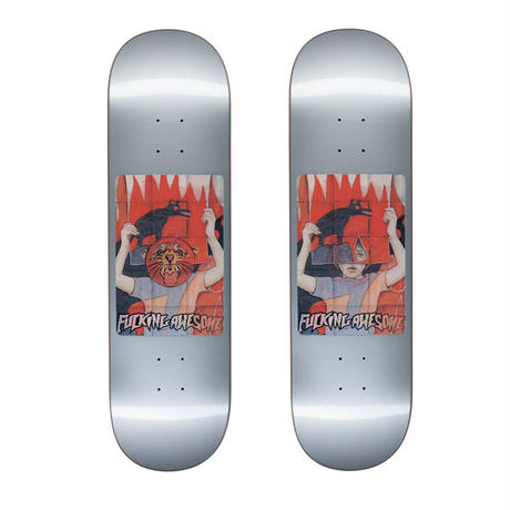 FUCKING AWESOME TIGER HOLOGRAM SILVER DECK   (8.5 x 31.91inch)