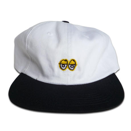 KROOKED EYES EMBROIDERED STRAPBACK CAP