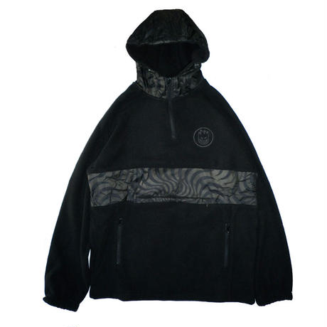 SPITFIRE BURNOUT POLAR FLEECE PULLOVER ANORAK JACKET