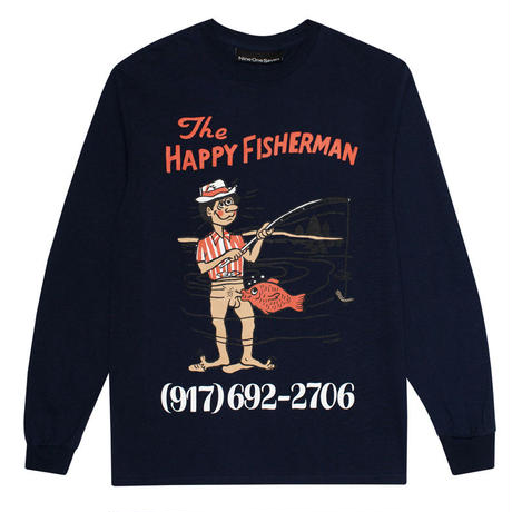 CALL ME 917 HAPPY FISHERMAN L/S TEE