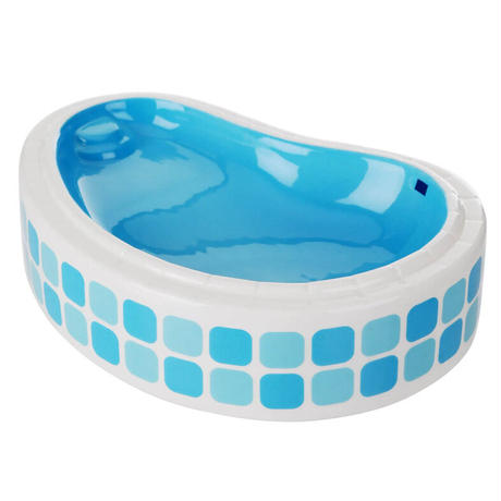 INDEPENDENT VALET TILED CROSS POOL BLUE ASHTRAY