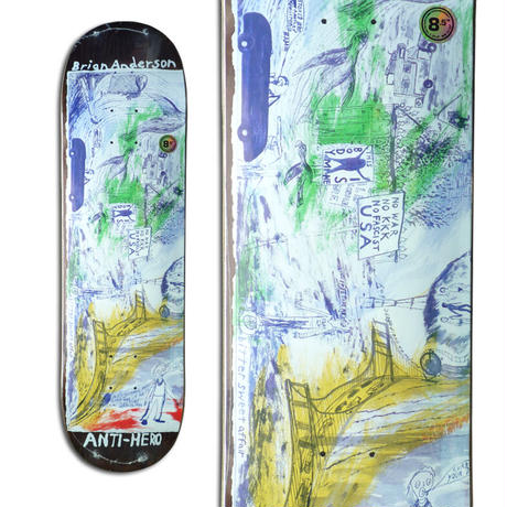 ANTI HERO BRIAN ANDERSON SF THEN AND NOW DECK (8.5 x 31.85inch)