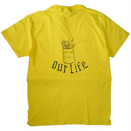 OUR LIFE BURN BARREL TEE BY CHRIS LINDIG