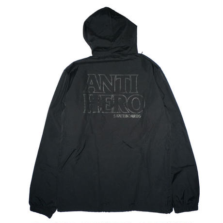ANTI HERO  LIL BLACK HERO  EMBROIDERED HOODED COACH JACKET