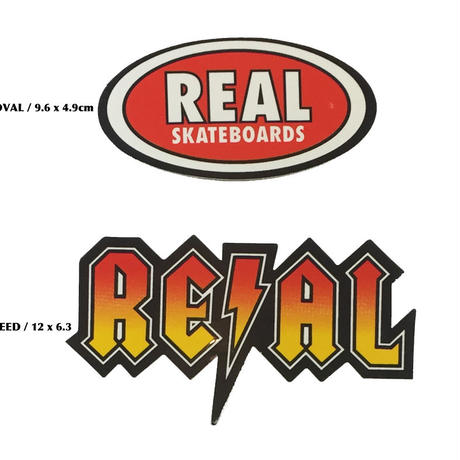 REAL OVAL / DEEDS STICKER
