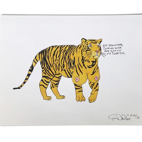 POROUS WALKER TIGER TITZ ART PRINT