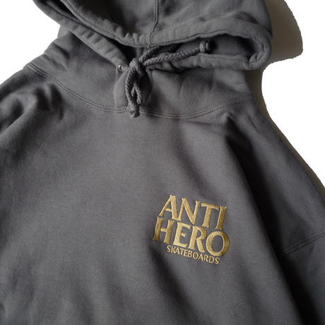ANTI HERO LIL BLACKHERO EMBROIDERY HOODIE