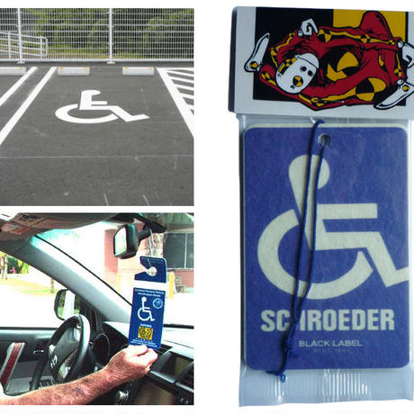 DEAR,  HANDICAPPED  SHROEDER LOGO  AIR FRESHENER  芳香剤
