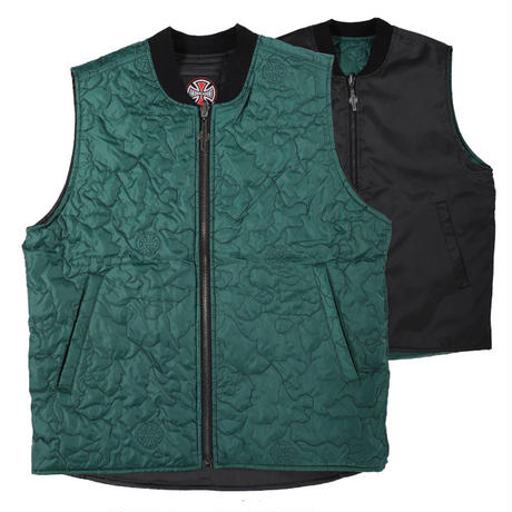 INDEPENDENT CORE REVERSIBLE VEST FOREST GREEN / BLACK