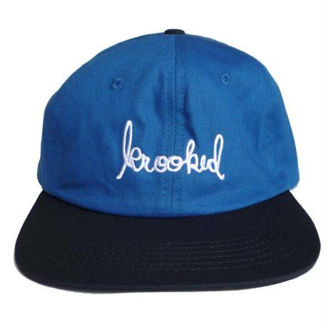 KROOKED SKRIPT STRAPBACK CAP