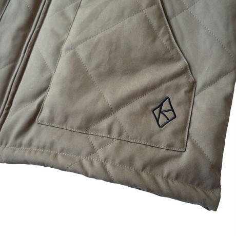 KROOKED DIAMOND K QUILTED CANVAS VEST
