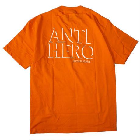 ANTI HERO DROP HERO POCKET TEE ORANGE / WHITE