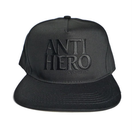 ANTI HERO BLACKHERO EMBROIDERY SNAPBACK CAP