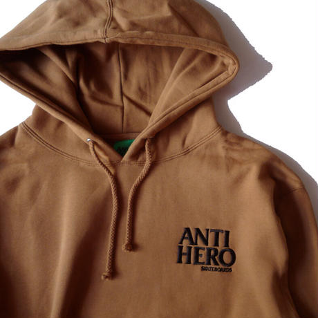 ANTI HERO LIL BLACK HERO EMBROIDERY HOODIE