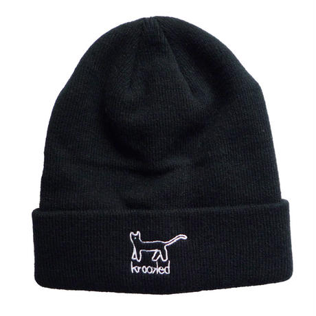 KROOKED KAT EMBROIDERY CUFF BEANIE