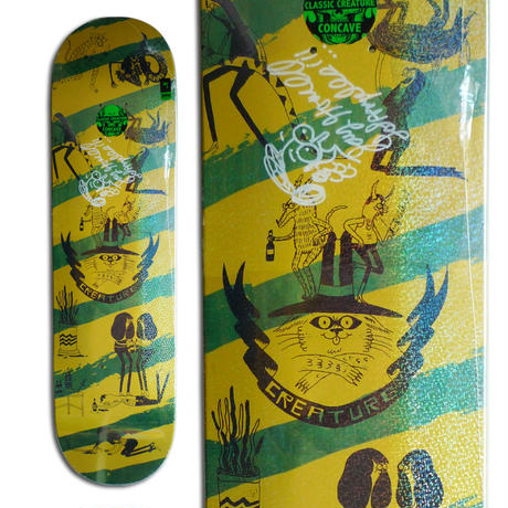 CREATURE x JAY HOWELL SNAKE BARF SMALL SIGNED DECK - B (8.0 x 31.8inch)  サイン入りデッキ & ポスター付き