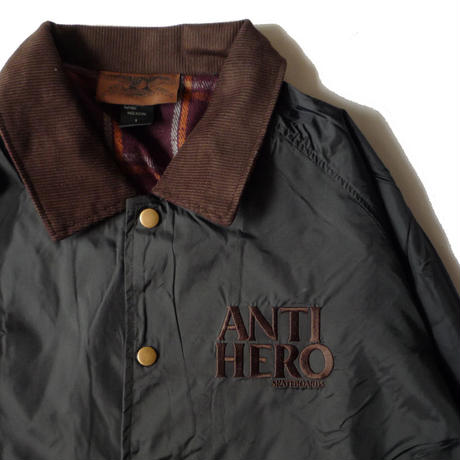 ANTI HERO  LIL BLACK HERO EMBROIDERY COACH JACKET