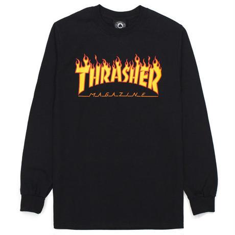 THRASHER  FLAME LOGO  L/S TEE