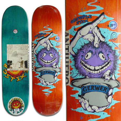 ANTI HERO GRIMPLE STIX FRANK GERWER DECK  (8.25 x 32inch)