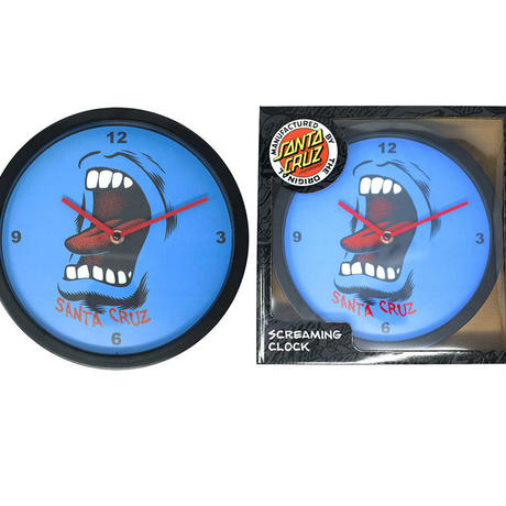 SANTA CRUZ SCREAMING WALL CLOCK