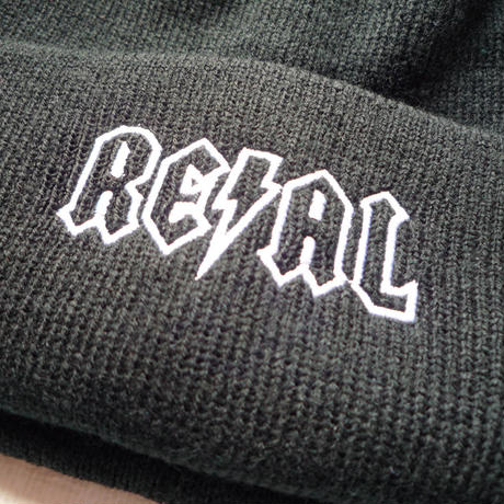 REAL DEEDS EMBROIDERY CUFF BEANIE