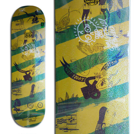 CREATURE x JAY HOWELL SNAKE BARF LARGE SIGNED DECK - B (8.6 x 32.11inch)  サイン入りデッキ & ポスター付き