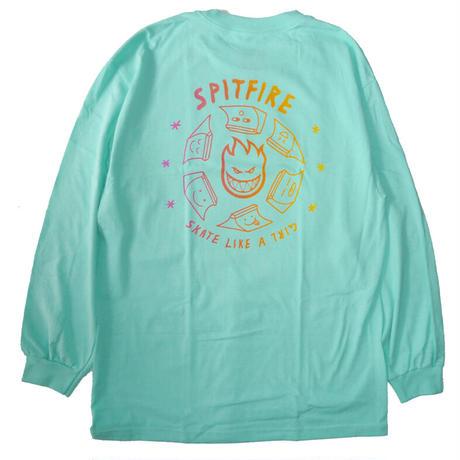 SPITFIRE x SKATE LIKE A GIRL FADE L/S TEE