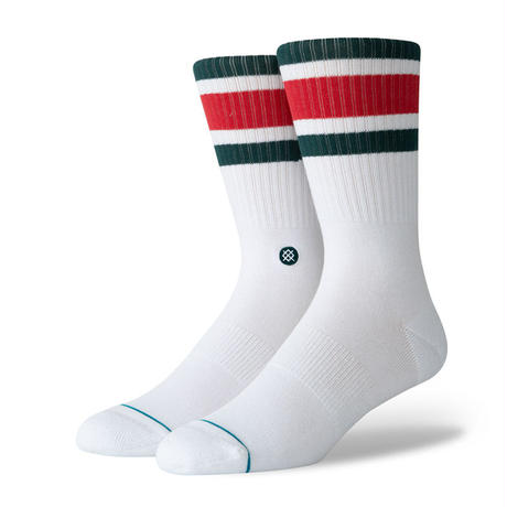 STANCE BOYD 4 CREW SOCKS WHITE/RED